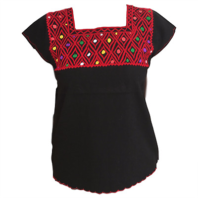 Casa Fiesta Designs Mexican Blouse - Embroidered - Authentic - Handmade - Cotton