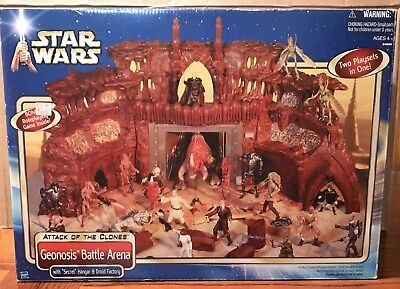 Star Wars GEONOSIS BATTLE ARENA Playset 2002 AOTC Attack Of The Clones MISB
