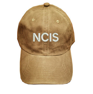 282eaf872de72 Khaki Washed cotton cap dad hat NCIS Naval Criminal Investigative Service
