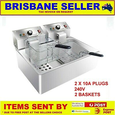 FRYER CHIP FRYER HOT FOOD FRYER LOW PROFILE LARGE BASE 4.6kw NEW
