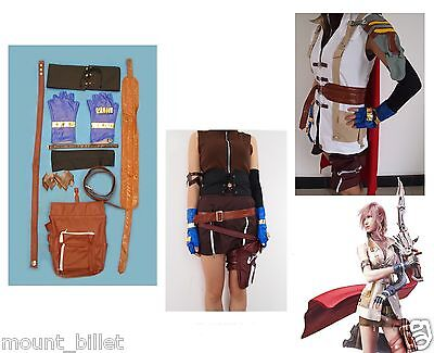 Brand new Final Fantasy 13 XIII Lightning Cosplay Costume SIZE XL Thanksgiving