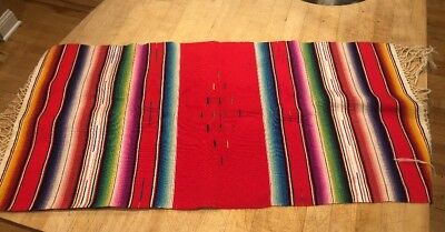Mexican Runner/topper/cloth From Mexico Vintage 17x36