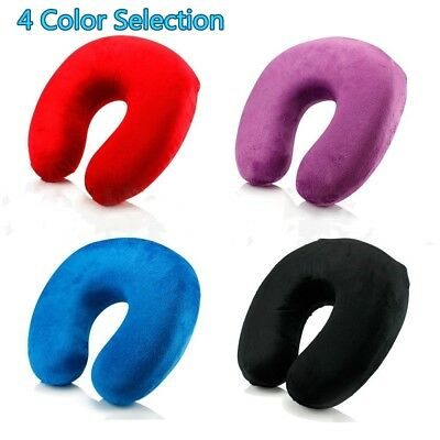 Memory Foam U Shaped Travel Pillow Neck Support Head Rest Car Airplane Cushion