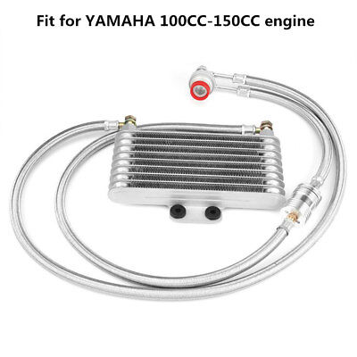 Motorcycle Engine Oil Cooler Cooling Radiator Kit for YAMAHA 100CC-150CC Engine