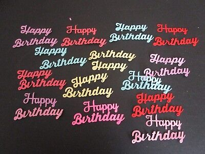 Die Cuts Happy Birthday 12 Block Cardstock