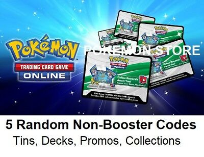 5 Random Codes Pokemon TCG Online Theme Deck Blister Trainer Box - Emailed FAST!
