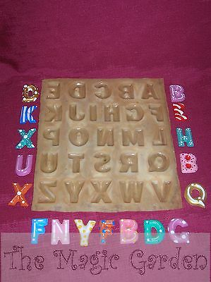 Complete alphabet letters plaster craft resin latex moulds molds