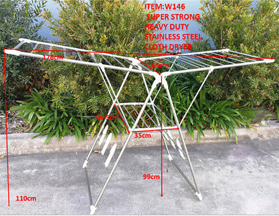 Heavy Duty Indoor Outdoor Folding Stainless Steel Cloth Dryer Garment Hanger