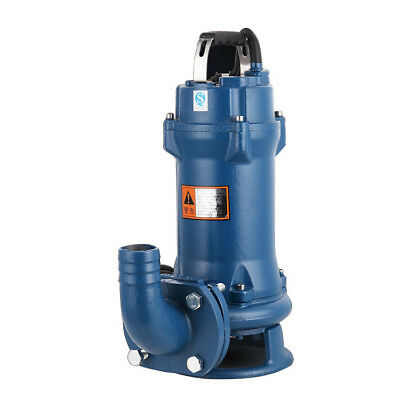 New 220V 1.5HP Industrial Sewage Cutter Grinder Cast iron Submersible Sump Pump