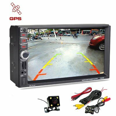 GPS Navigation Double 2Din Car Stereo MP3/MP4 Player Bluetooth Auto Radio Camera