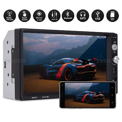 """2 DIN 7"""" Car Stereo Radio Bluetooth MP5 MP3 Player Mirror Link HD USB Double"""