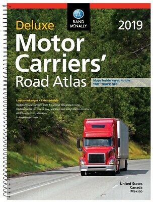 Rand McNally 2019 Motor Carriers Road Atlas Truck Driver Semi RV Spiral Laminate
