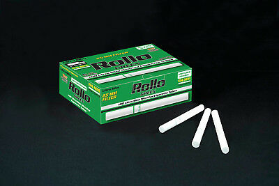 NEW 25mm 1000 ROLLO MENTHOL GREEN ULTRA SLIM Tobacco Cigarette filter tubes