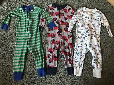 Hanna Andersson Size 70 9-18 Months Sleepers Pajamas lot of 3
