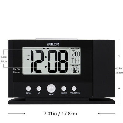 Ceiling Wall Alarm Constant Time Projector LCD Thermometer Digital Clock
