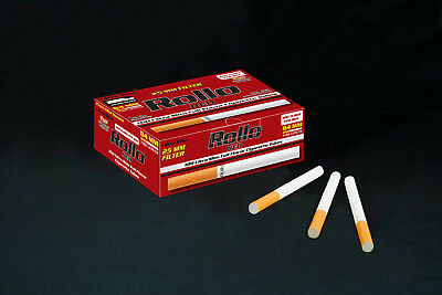 NEW 25mm 500 ROLLO RED FILTER ULTRA SLIM Tobacco Cigarette filter tubes
