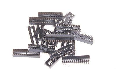 20PCS 28 Pin DIP28 Integrated Circuit IC Sockets Adaptor Solder Type