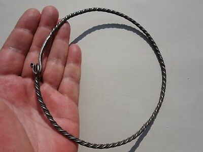 ancient Viking twisted Silver Torque - Neck Torc, Dated circa 10-12 century A.D.
