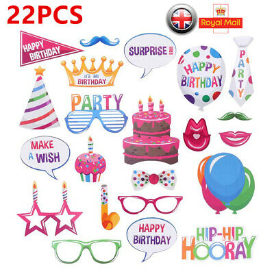 22PCS Party Props Photo Booth Selfie Wedding Birthday Hen Party Photography cckk