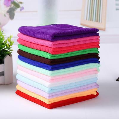 2/5/10Pcs Mixed Color Microfiber Car Cleaning Towel Kitchen Washing Polish N;DE