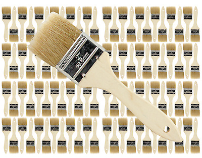 96 Pk- 2 inch Chip Paint Brushes for Paint, Stains,Varnishes,Glues,Gesso