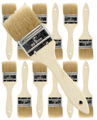 12 Pk- 2 inch Chip Paint Brushes for Paint, Stains,Varnishes,Glues,Gesso