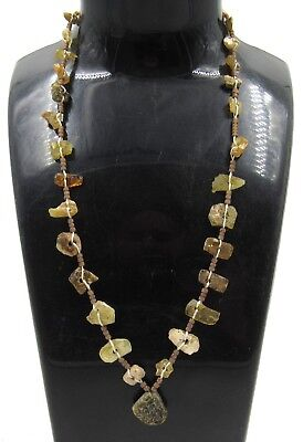Authentic Ancient Roman Glass Beaded Necklace - E458