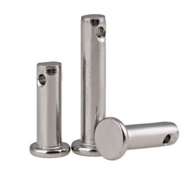 M6 M8 M10 A2-70 Stainless Steel 304 Flat head Clevis Pins with hole