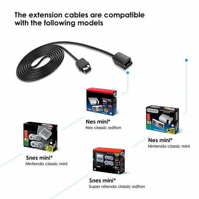 For Wii Remote Control SNES Classic Edition Console Game Control Extension Cable
