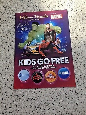 Kids go free voucher (Merlin Attractions at Blackpool)