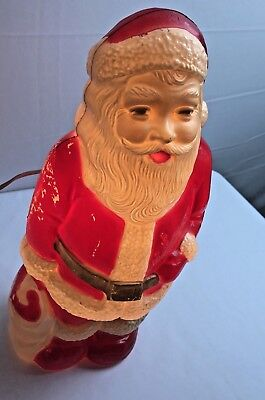 Blow mold Christmas vintage santa Toy Bag Red Union Products Leominster MA Works
