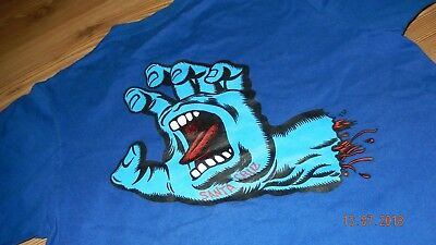 Vintage Skateboard T-shirt Santa Cruz 1989 old school shirt Scream Hand orginal