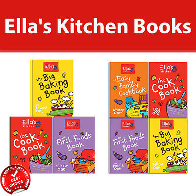 Ella's Kitchen Cookbook Collection 4 Books Set Cooking for Babies & Children NEW