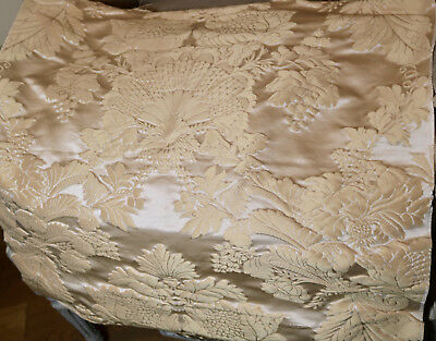 Vintage French Lyon Silk Damask Jacquard Fabric