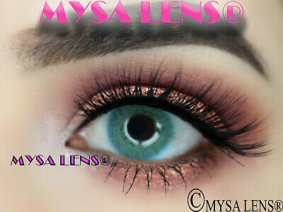 Natural Looking Contact Lenses Colored Ocean Blue 1 Year (Pair) MYSALENS