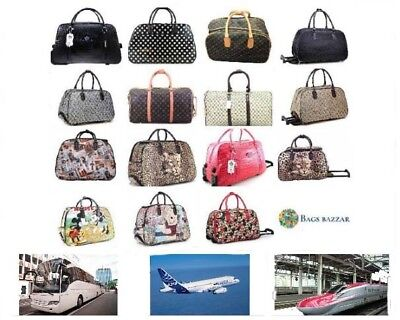 Cabin Size Wheeled Travel Holdall And Other Weekend Duffel Hand Hold Luggage Bag
