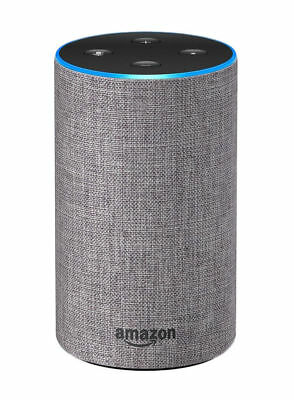 !!! Amazon Echo (2. Generation) - Hellgrau Stoff Rechnung - Neu !!!