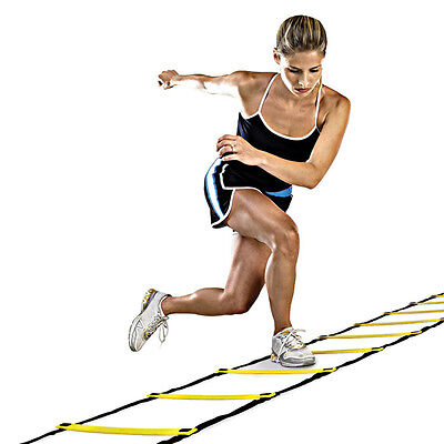 Agility Speed Sport Tranning Ladder 4M - Soccer Fitness Boxing 8 Rungs Bag J&S