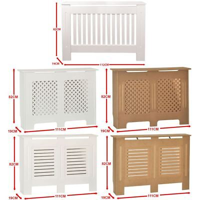 Radiator Cover White Unfinished Modern Traditional Wood Grill Heat Guard Medium