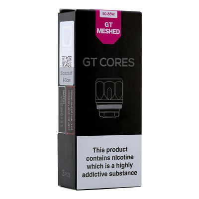 VAPORESSO GT MESH COILS, 50-90W, Genuine Replacement Coil Heads, 3 Pk