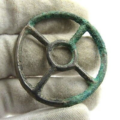 Authentic Ancient Celtic Bronze Sun Pendant Amulet - Wearable - E512