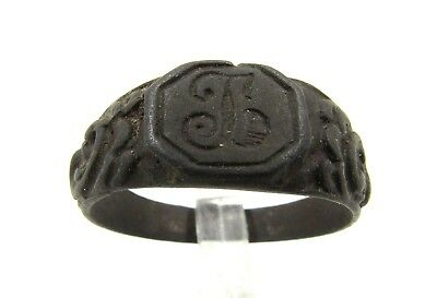 Authentic Late / Post Medieval Ring W/ Initials - Wearable - E527