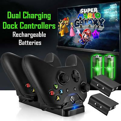 For XBOX ONE Dual Charging Dock Station Controller Charger 2 Extra Battery Packs