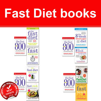 Fast Diet recipe books collection set Lose Weight Stay Healthy Live Longer NEW