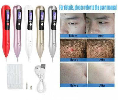LCD Laser Freckle Removal Pen Skin Mole Dark Spot Warts Tag Tattoo Remover Tool