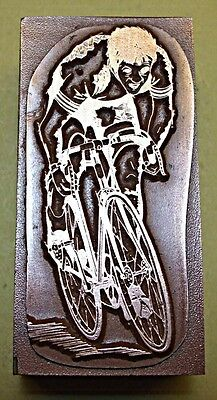 "A ""racing Cyclist"" Printing Block."