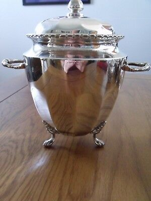Silver Plated Tea Caddy/Urn