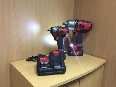 "Mac Tools 20V 1/2"" Drive & 20V 3/8"" Impact Wrench's With 2 Batteries & Charger"