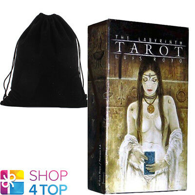 Labyrinth Tarot Cards Deck Fournier Luis Royo Telling Esoteric & Velvet Bag New
