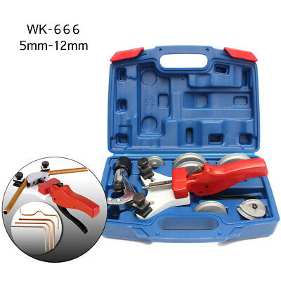 WK-666 Hand Multi Refrigeration Copper Pipe Tube 5-12mm Bender Tool Kit Cutter H